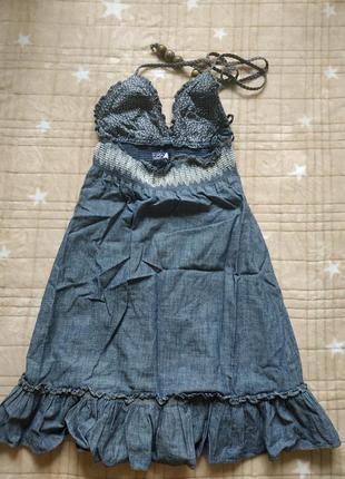 Джинсовый сарафан, платье