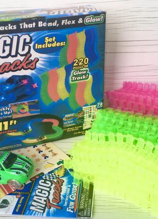 Гоночный трек MAGIC TRACKS Мэджик Трек 220 дет. 3,2м+1 машинка