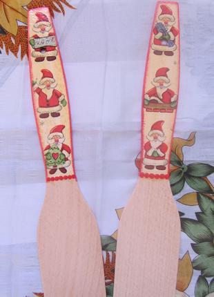 Лопатка деревянная Новогодняя Декупаж ручная работа