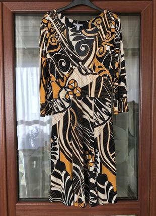 Платье миди  джерси премиум класса стильное mango размер m/l