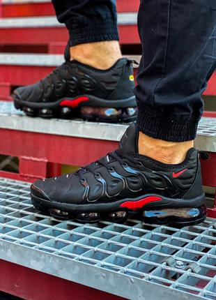 Мужские черные кроссовки nike air vapor max plus black red,кро...