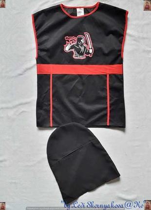 """Новый карнавальный костюм """"ниндзя"""" с шапочкой для мальчика 5-7..."""