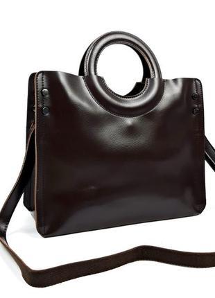 Женская кожаная большая женская сумка