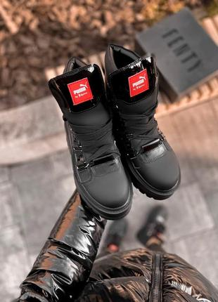 Крутые женские зимние ботинки на платформе puma x fenty by rih...