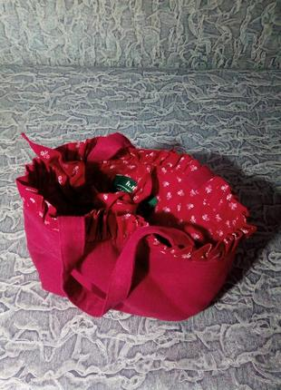 Плотная, текстильная сумка. h. moser.