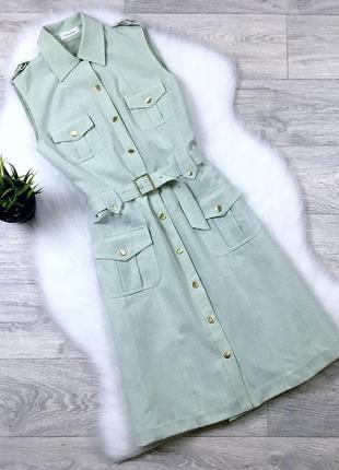 Платье-рубашка с поясом calvin klein