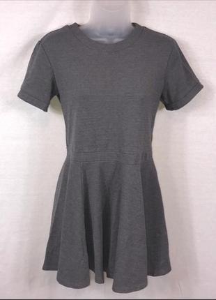 Скидка только 12.12!!! h&m серое мини платье из плотной ткани,...