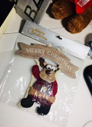 Новогоднее украшение олень декор подвесной