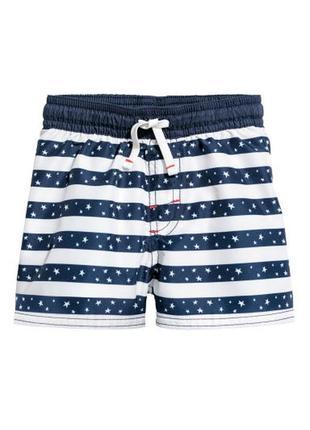 H&m шорты для плавания 2-3 года 98 см для купания пляжные