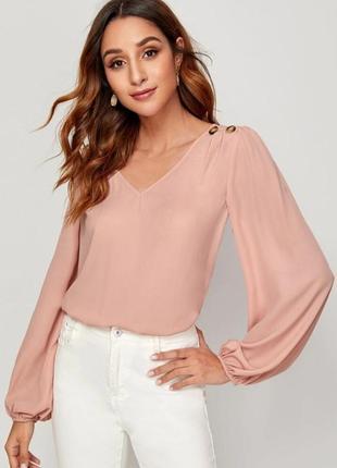 Розовая блуза