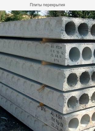 Плиты/панели перекрытия (ширина 1; 1,2; 1,5; 1,8 длина до 9 м.)