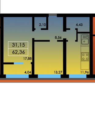 Продам 2-комнатную квартиру в новом сданном доме в Островах
