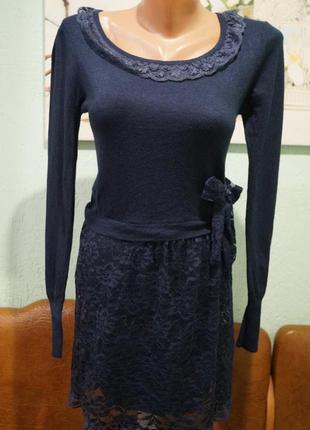 Трикотажное платье на девочку 11-12 лет