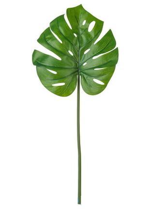 Искусственный лист Monstera, зеленый в наличии !!!