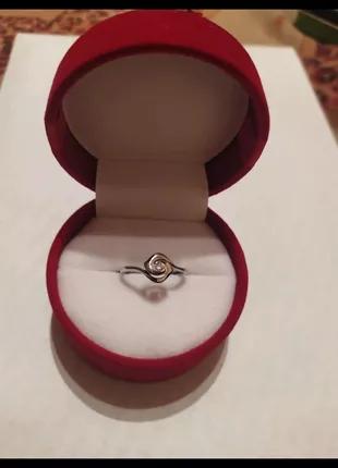 Кольцо роза ( белое золото / бриллиант )