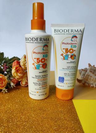 Солнцезащитное молочко для детей от 1 года bioderma photoderm ...