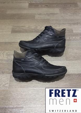 Кожаные швейцарские зимние утеплённые  ботинки fretz men с мем...