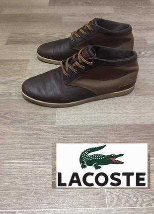 Кожаные кеды ботинки дезерты lacoste
