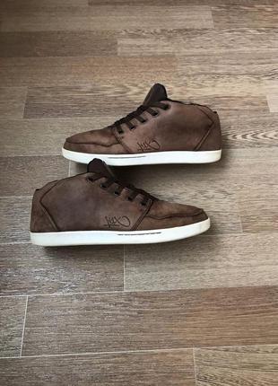 Кожаные кроссовки ботинки хайтопы кеды
