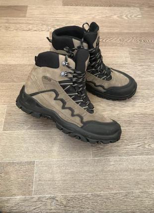 Кожаные зимние треккинговые термо ботинки с мембраной willow-t...