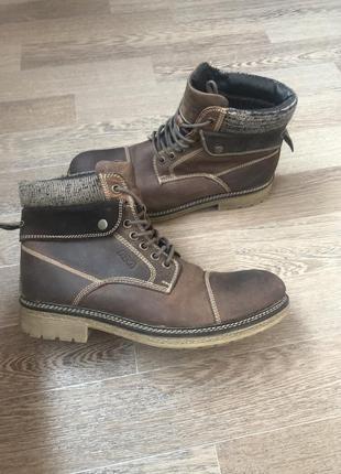 Немецкие зимние кожаные ботинки am shoes company