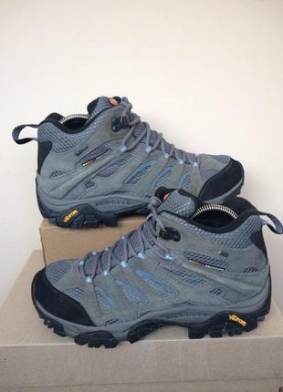 Merrell continuum gore-tex vibram кожаные трекинговые ботинки 40р
