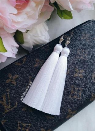 Серьги кисти, вечерние серьги, сережки для невесты