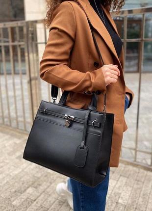 4 цвета! черная классическая деловая сумка