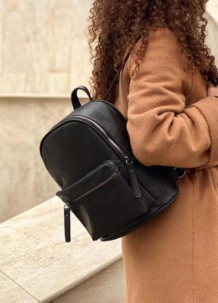 Черный городской рюкзак унисекс
