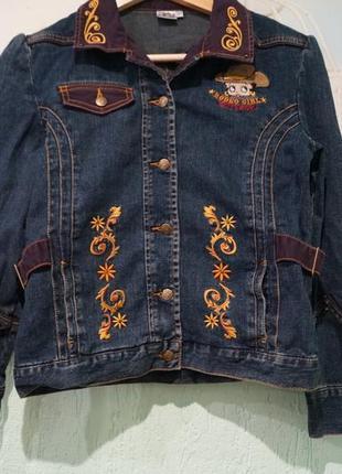 Джинсовая куртка на девочку 12 лет