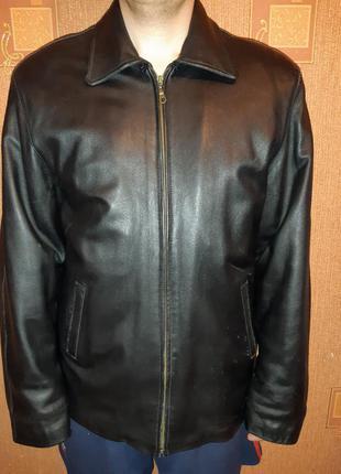 Мужская куртка натуральная кожа с меховой подклакой