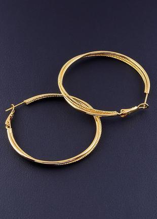 Серьги кольца 'xuping' позолота 18к ювелирная бижутерия