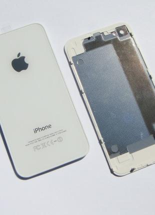 Задняя крышка IPhone 4S Белая ААА стекло