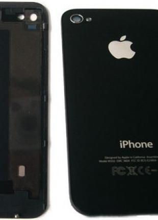 Задняя крышка IPhone 4S чёрная ААА стекло
