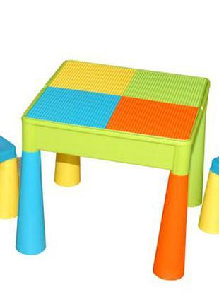 Детский стол столик лего доска lego два стула в комплекте Tega...