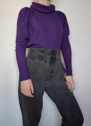 Распродажа до 27.02! насыщенно-фиолетовая кофта с хомутом фасо...