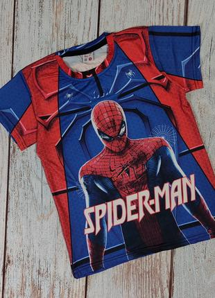 Детская футболка для мальчика Человек паук Spider Man Спайдер ...