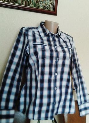Рубашка-блуза в клетку tom tailor