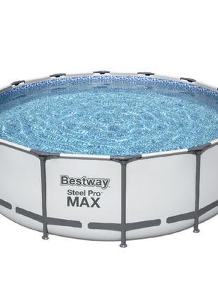 Каркасный семейный бассейн для дачи Bestway Steel Pro Max 427х...