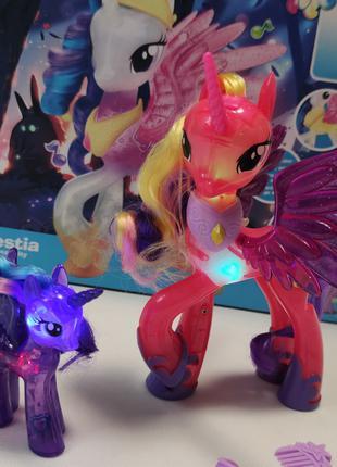 Фигурки из мультфильма набор маленькая Пони my Little Pony лош...