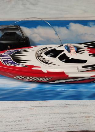 Катер на радиоуправлении пульте управления красный Racing Boat