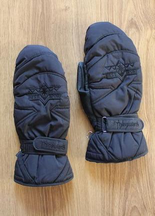 Отличные горнолыжные варежки перчатки на зиму активный отдых t...