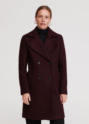 Тёплое пальто прямого кроя. reserved. размеры уточняйте.