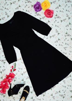 🎁1+1=3 черное трикотажное платье boden, длина миди, размер 48 ...