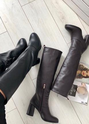 Lux обувь!😍идеальные натуральные кожаные зимние высокие сапоги...