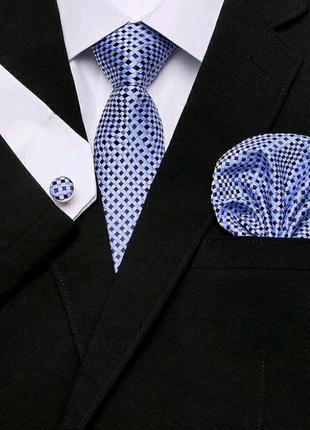 Набор для мужчины подарок галстук запонки