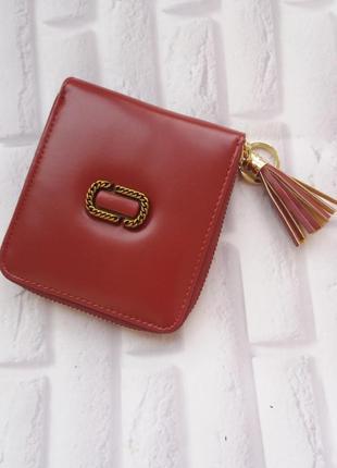 Маленький кошелек из натуральной кожи на замку кожаный жіночий...