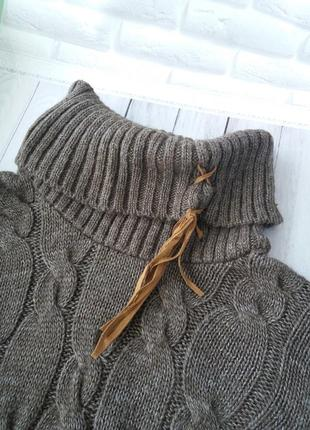 Теплый свитер туника parkhande  кофта теплая вязанная