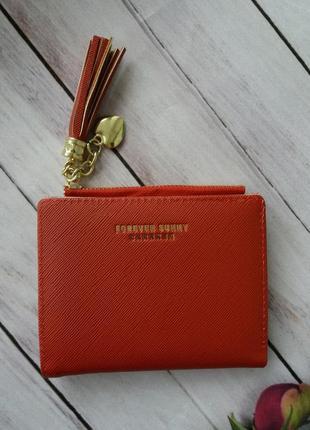 Маленький красный кошелек кошельок гаманець жіночий