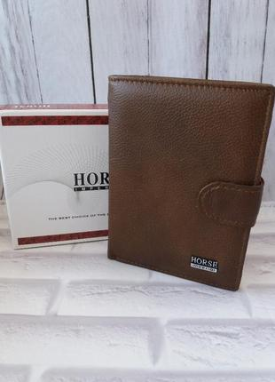Мужское портмоне под документы из натуральной кожи. кожаный ко...